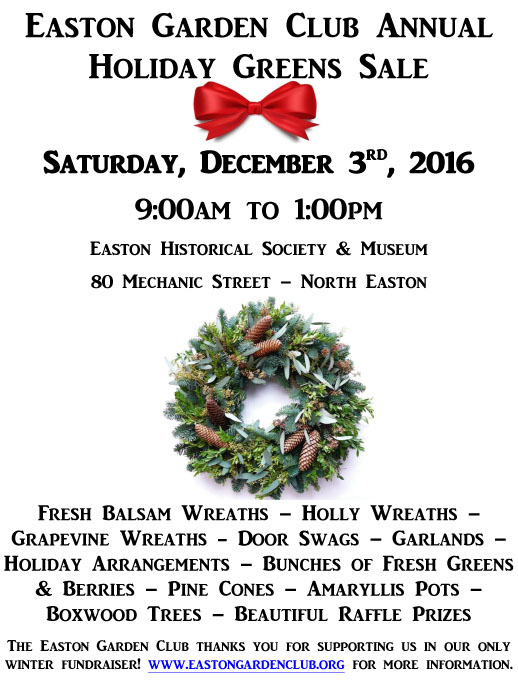 Easton Garden Club's annual Greens Sale