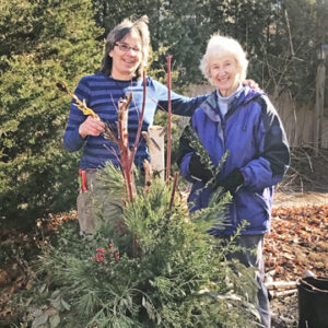 Garden-911 Boston owner Carol Lundeen and mother Barbara J. Rogers in Yarmouthport, MA